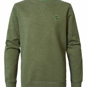 Sweater R-neck Dusty Army