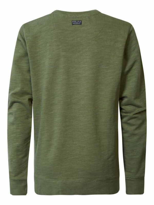 Sweater R-neck Dusty Army