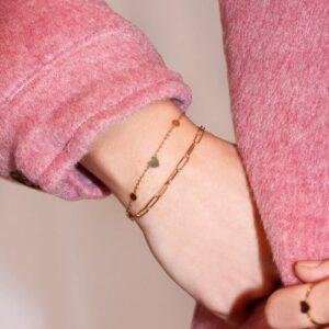 Armbanden Set Schakel GOUD