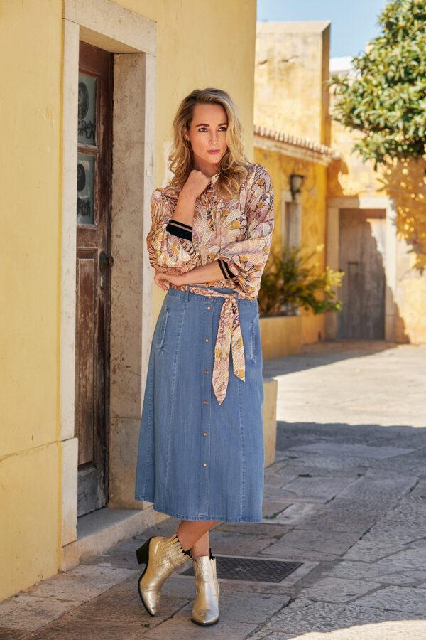 Skirt A-line tencel