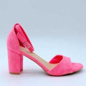 Fuchsia sandaal met hak