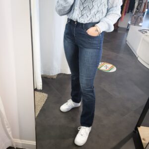 Dione Mid Stone Straight Jeans