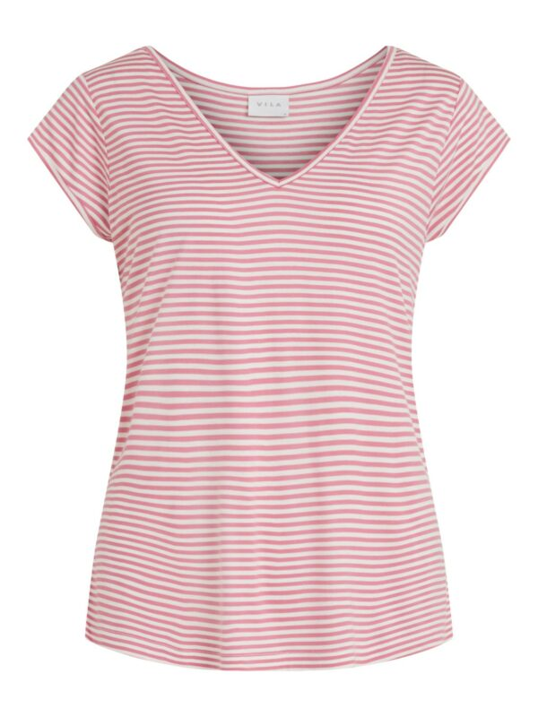 ViScoop T-shirt V-neck Wild rose