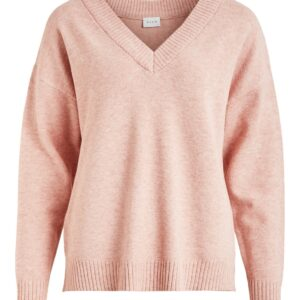 viril oversize v neck misty rose