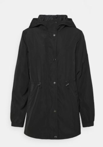JdyYo Long hooded Parka Black