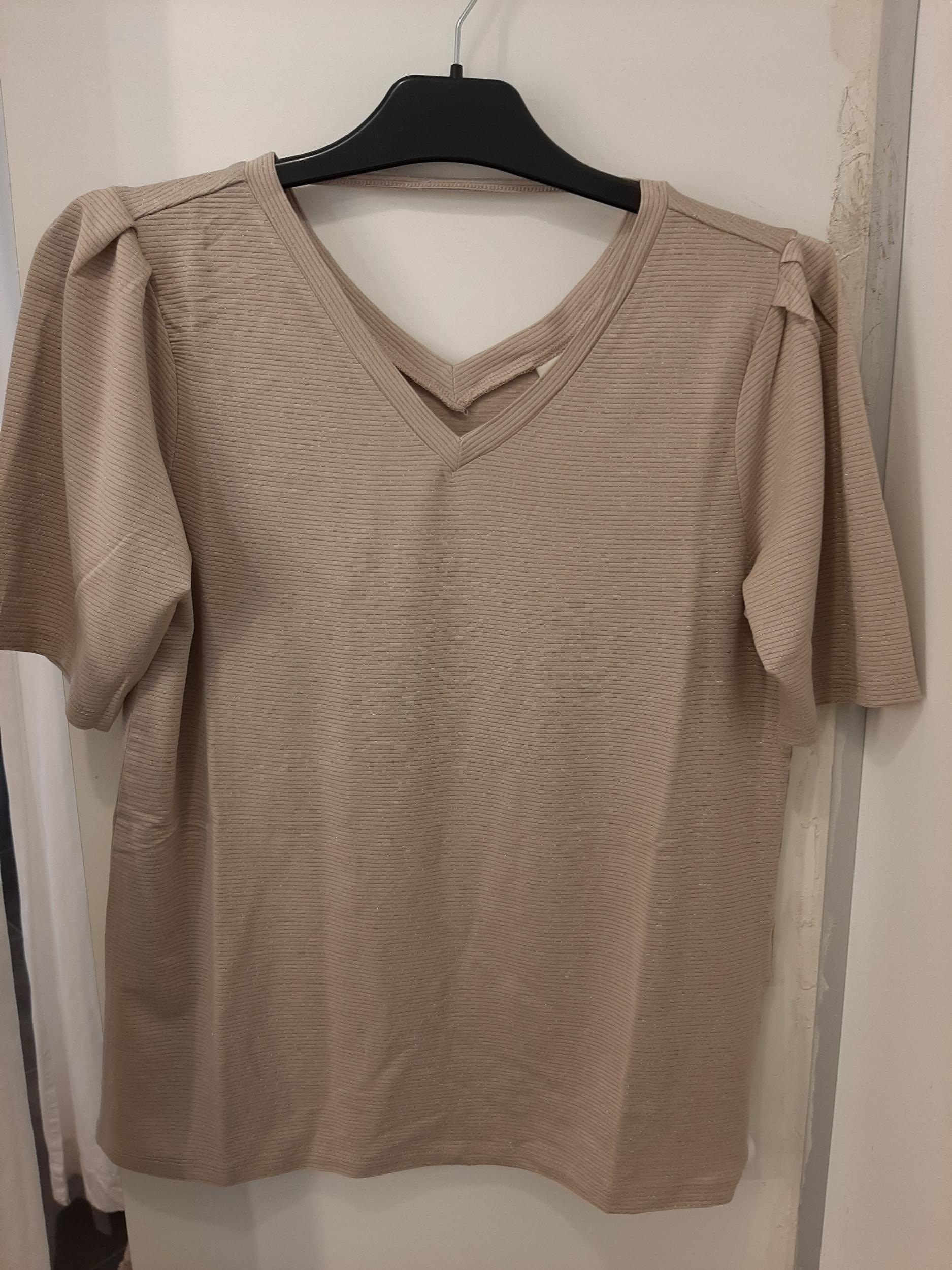 Jdyruna lurext shirt grey beige