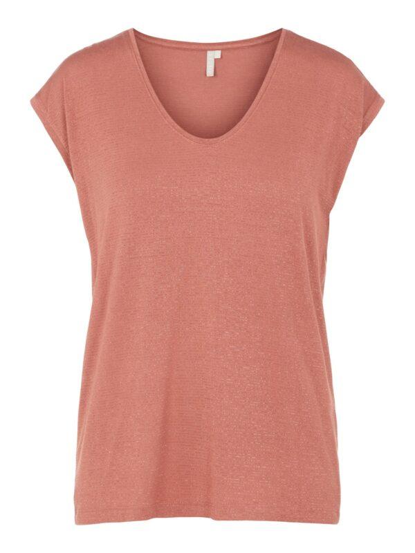 PcBillo Lurex T-shirt Canyone Rose