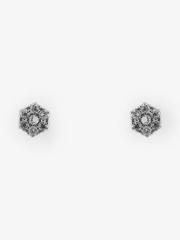 PcMarilo 6-Hoek earstud strass ZILVER