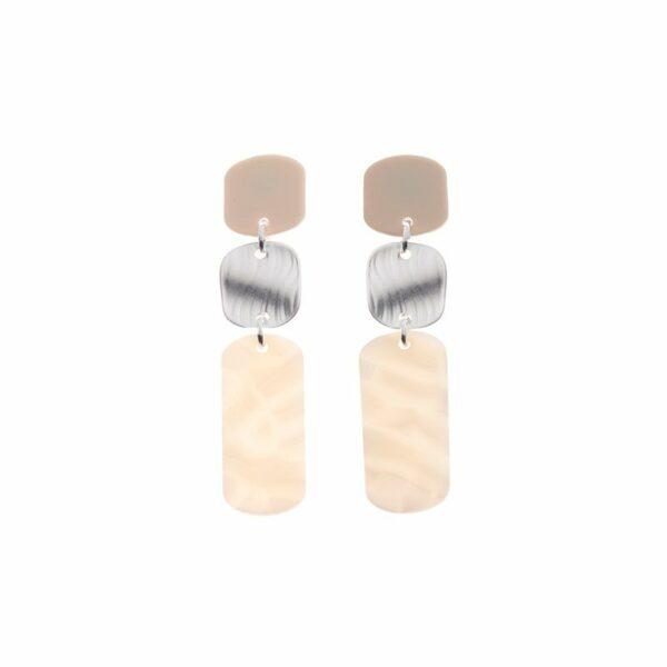 Lange oorhangers white