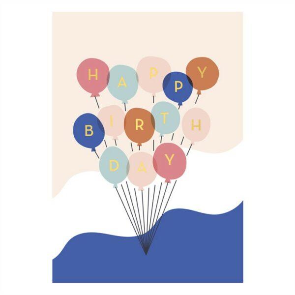 Postcard Balloons verjaardag