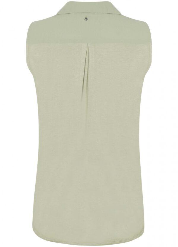 Top Chiffon Jersey Mix Sage Short Sleeve