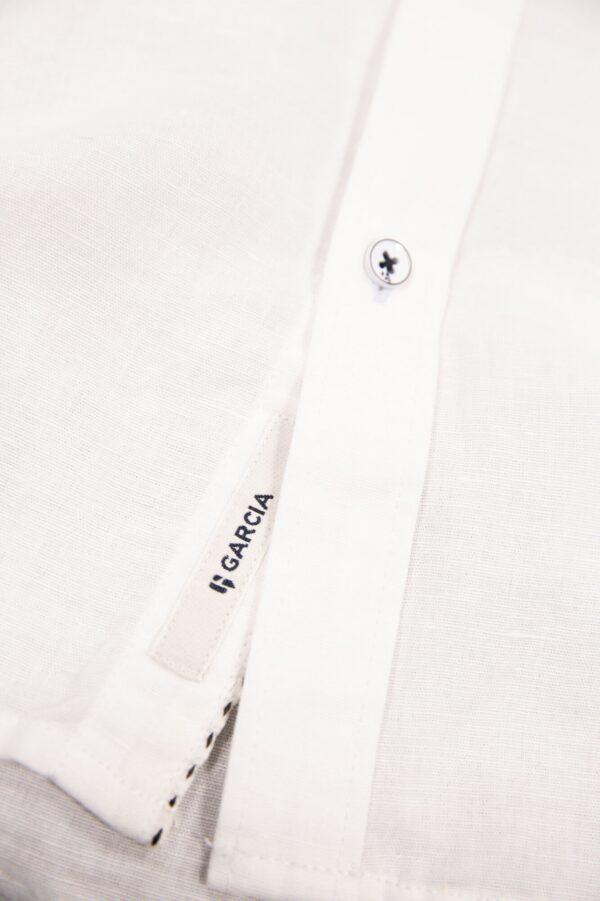 Linnen hemd Short Sleeve White