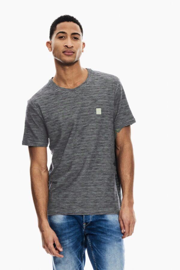 T-shirt Stripes Fresh Olive
