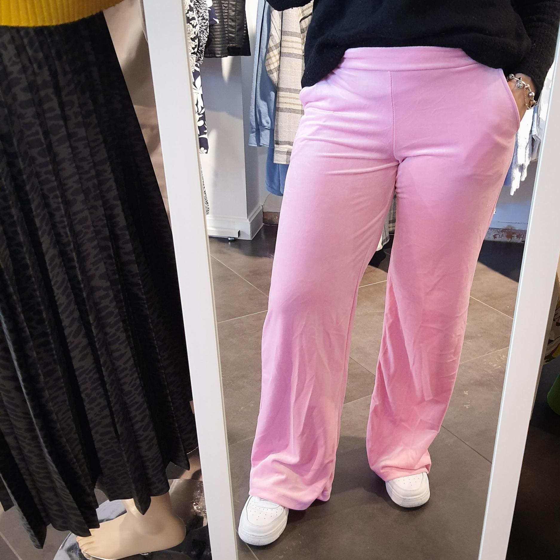 Lancio Velvet Pants Pink