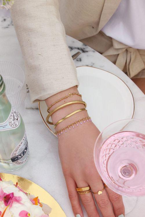 Dubbele armband Lila GOUD