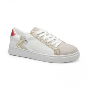 Sneakers wit-gold