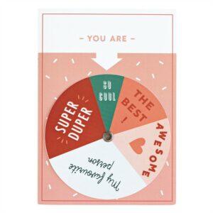 Spinning wheel kaartje