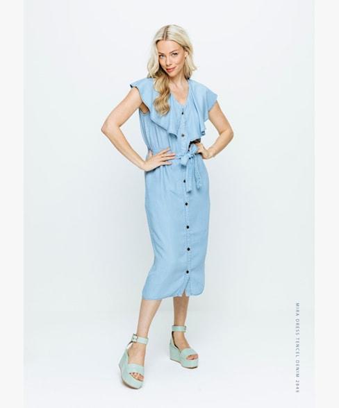 Mira dress tencil blue