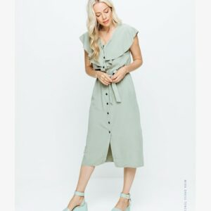 Mira dress tencil pistache