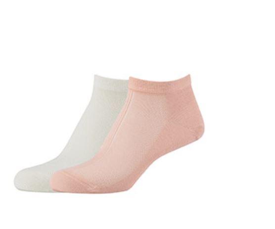 Camano Mesh Sneaker Sock Offwhite/Pink