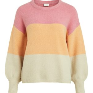 vilovely knit pullover salmon