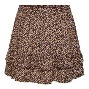 JdyStaar Life mini frill skirt Black Daisy