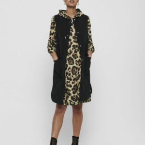 jdydiana augusta quilt waistcoat black