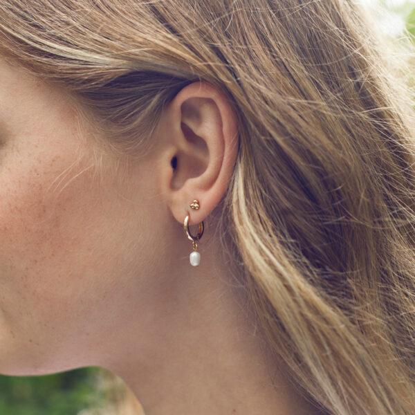 Pearl Small Hoop Earring