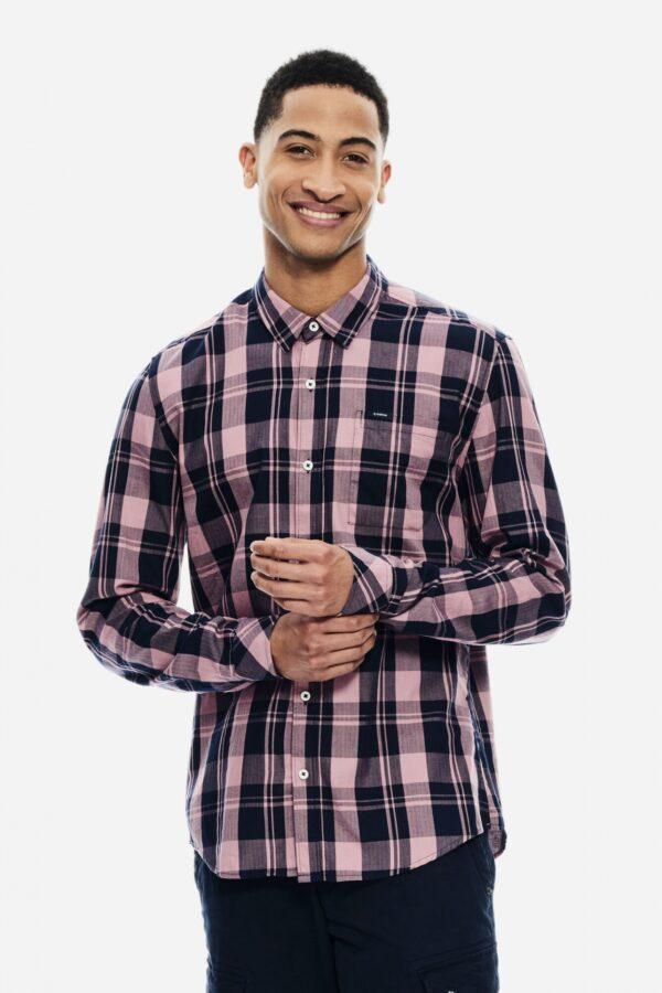 Men's shirt Check Mauve Mist
