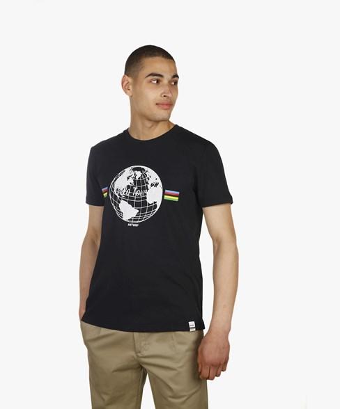 T-shirt Velo Tourist World Black