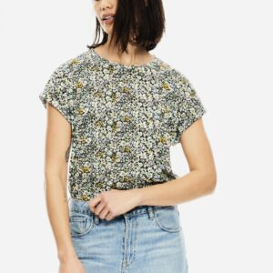 T-shirt Powder Blue Flower