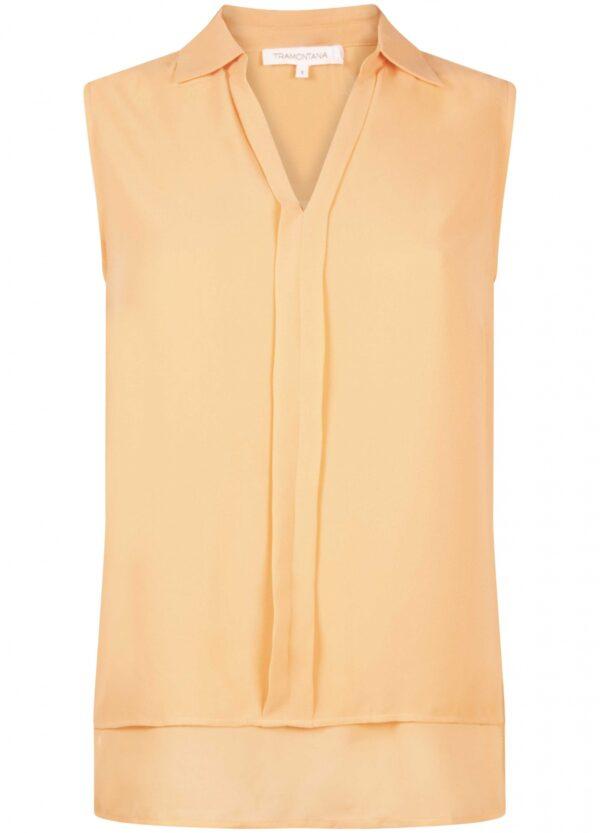 Top Chiffon Jersey Mix Apricot Short Sleeve