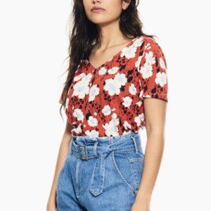 T-shirt fiesta Flower