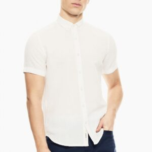 Linnen hemd Short Sleeve White