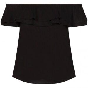 Top off shoulder black