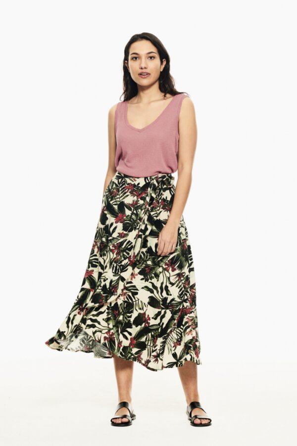 Singlet Lurex Desert Rose