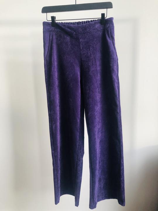 Charlie Pants Velours Purple