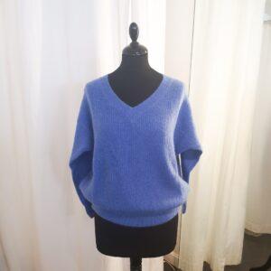 Knit V-neck Blauw