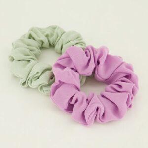 Scrunchie Set Munt-Roze