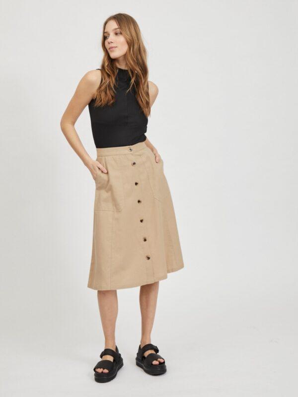 ViAlina Midi Skirt Humus