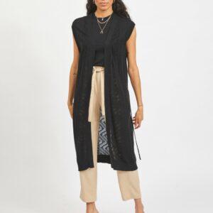ViLesly Long Knit Vest