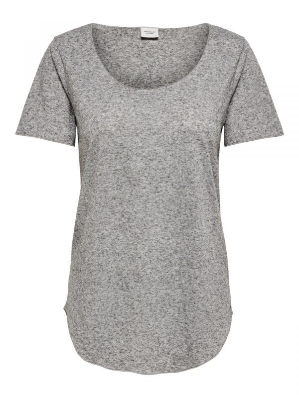 JdyLinette S/S top Light Grey Melange