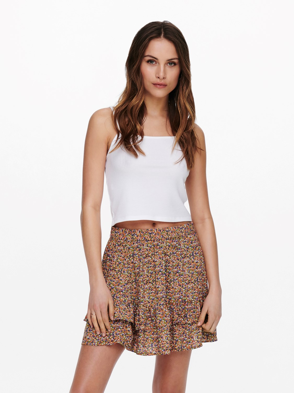 JdyStaar Life mini frill skirt Fall Leaf