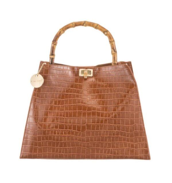 Handbag brown bamboo