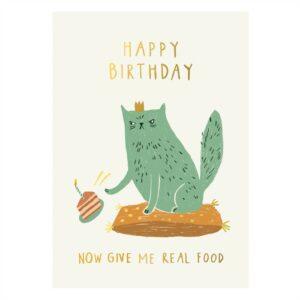 Angry Cat Verjaardagskaartje