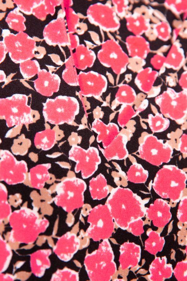 dress flower fiery pink