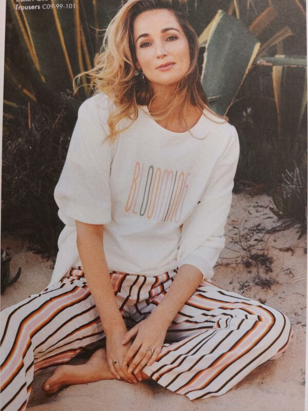 Trousers summer stripes print