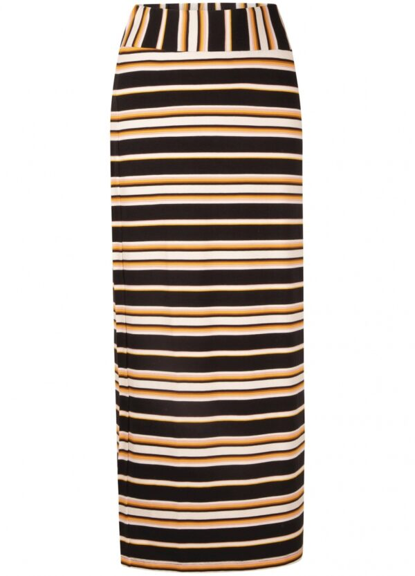 Skirt maxi dark summer stripes