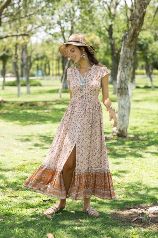 Maxi Dress Queen Orange