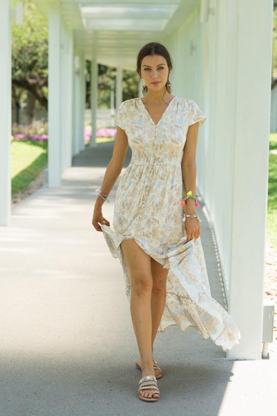 Maxi Dress Queen Beige
